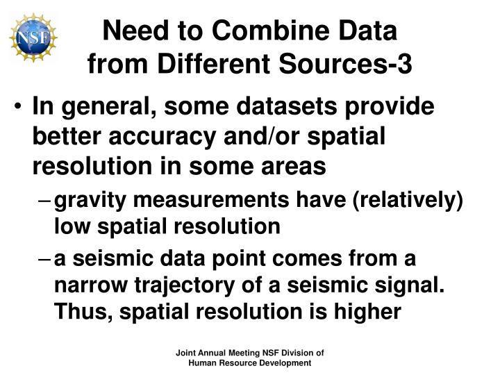 Need to Combine Data