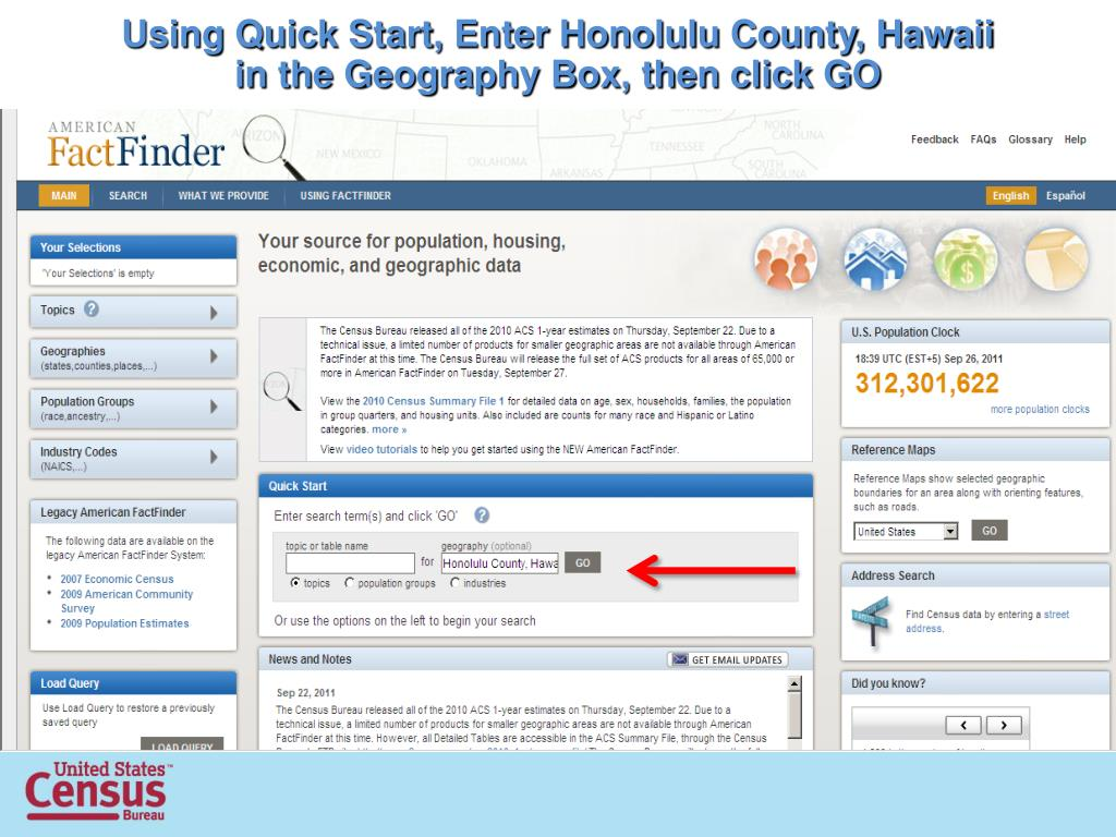 PPT - 2010 Census and the NEW American FactFinder Accessing