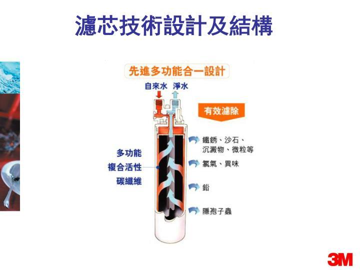濾芯技術設計及結構