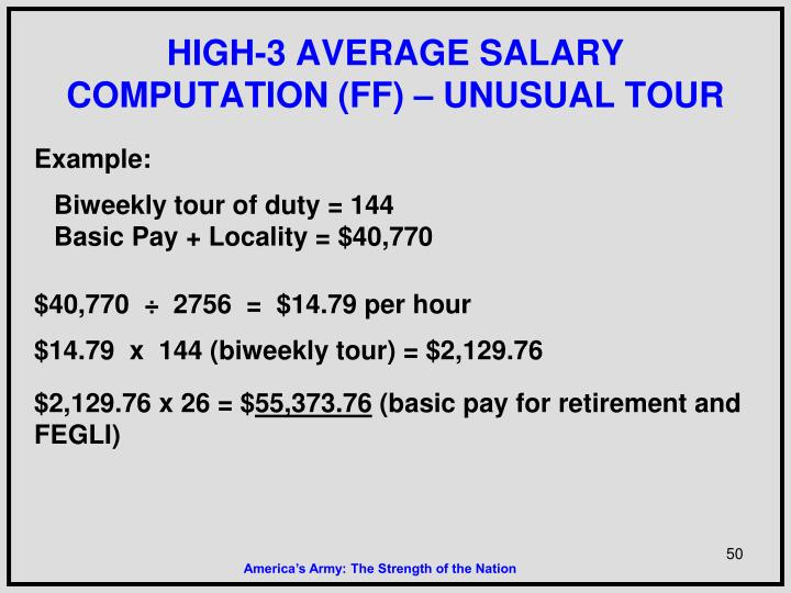 HIGH-3 AVERAGE SALARY