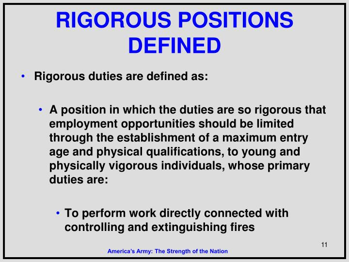 RIGOROUS POSITIONS DEFINED