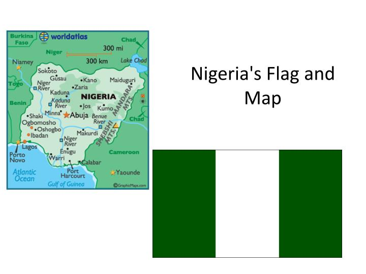 Nigeria's Flag and Map