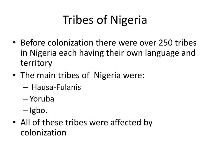 Tribes of Nigeria