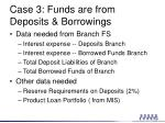 case 3 funds are from deposits borrowings