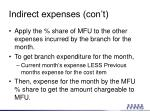 indirect expenses con t