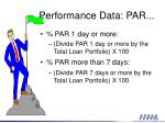 performance data par