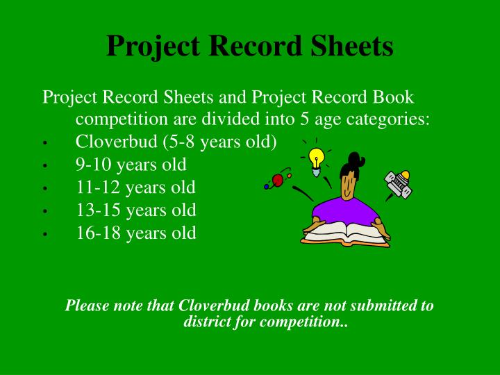 Project Record Sheets