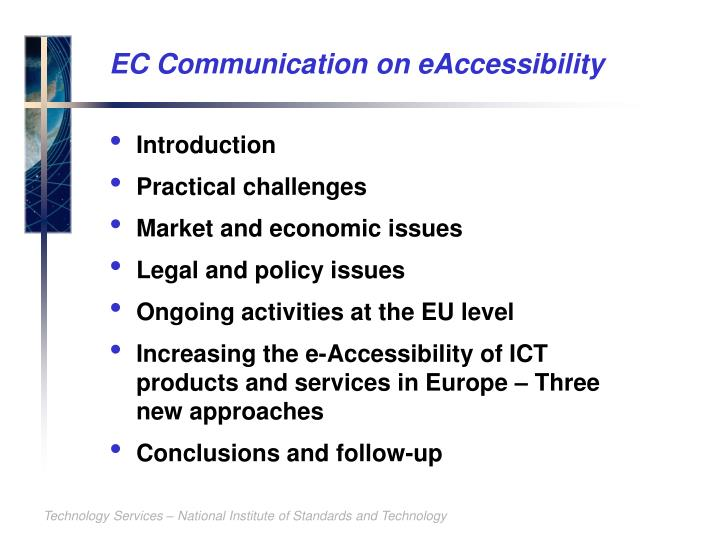 EC Communication on eAccessibility