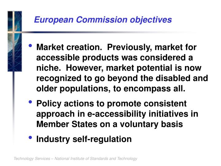 European Commission objectives