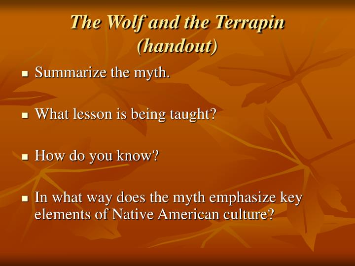 The Wolf and the Terrapin