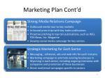 marketing plan cont d