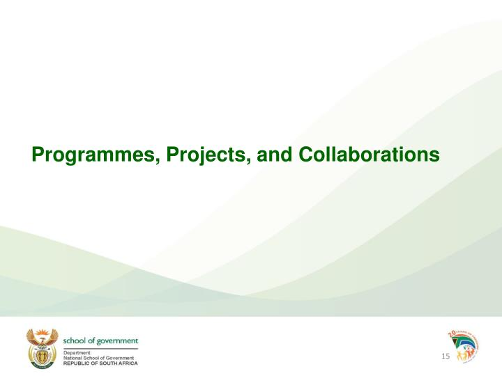 Programmes, Projects, and Collaborations