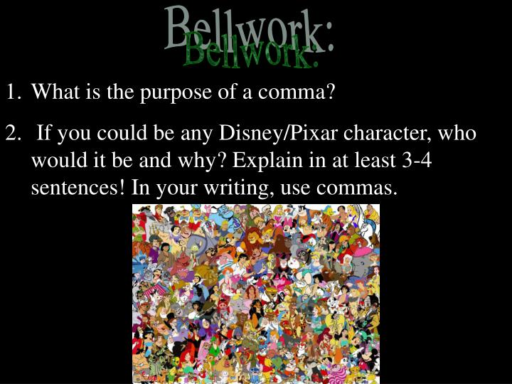 What is the purpose of a comma?