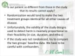 is our patient so different from those in the study that its results cannot apply