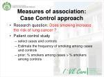 measures of association case control approach