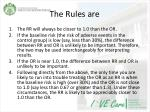 the rules are