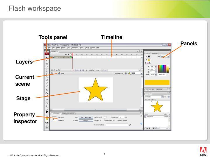 Flash workspace