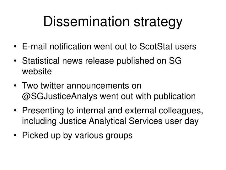 Dissemination strategy