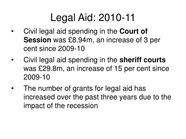 Legal Aid: 2010-11