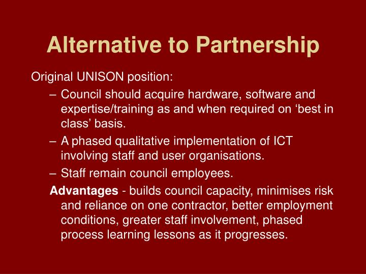 Alternative to Partnership