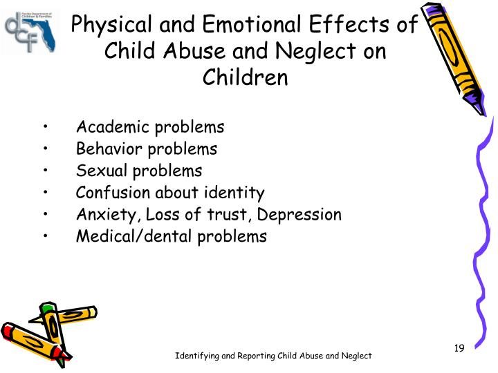 effects of child abuse Verbal abuse leaves a child forever changed the effects of emotional abuse are often overlooked, unnoticed or confused with other causes learn more about this silent destroyer here.