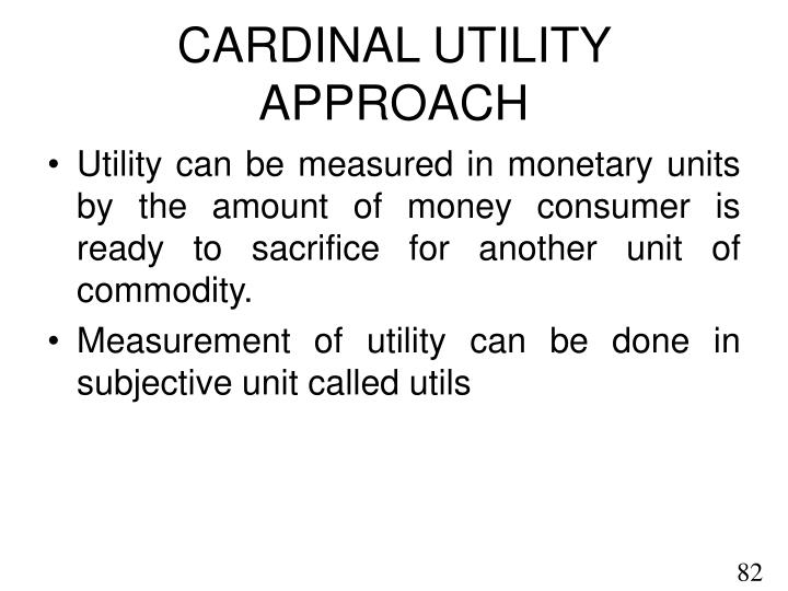 criticism of cardinal utility approach