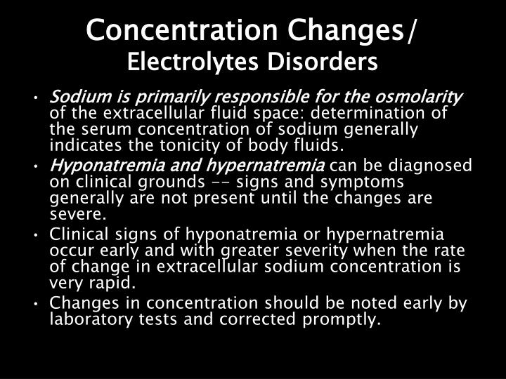 Concentration Changes/