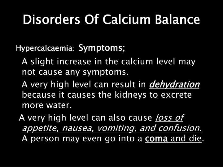 Disorders Of Calcium Balance