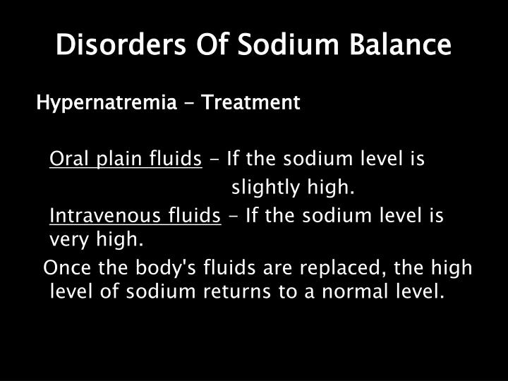 Disorders Of Sodium Balance