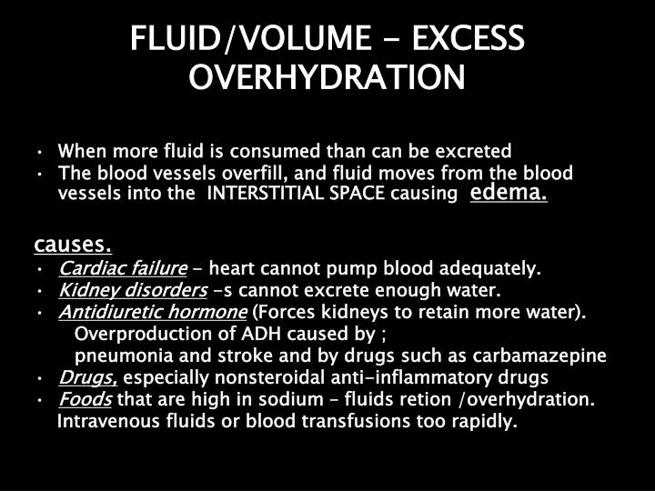 FLUID/VOLUME - EXCESS OVERHYDRATION