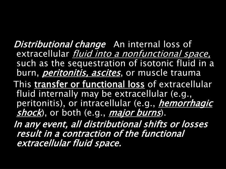 Distributional change