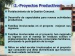 2 proyectos productivos