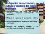 4 espacios de recreaci n cultura y cuidado del medio ambiente