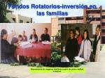fondos rotatorios inversi n en las familias