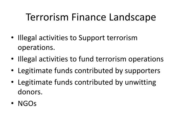 Terrorism Finance Landscape