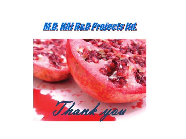 M.D. HAI R&D Projects ltd.