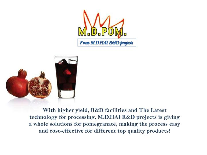 From M.D.HAI R&D projects