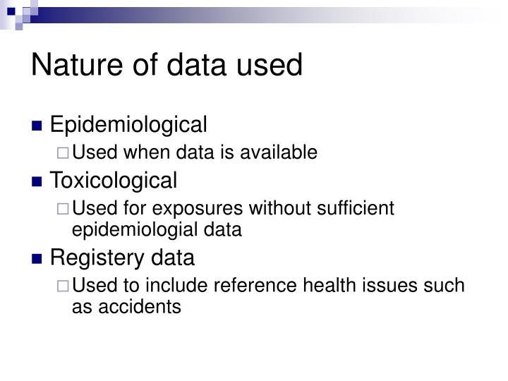 Nature of data used