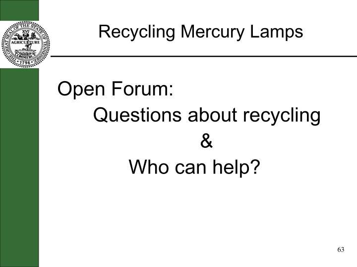 Recycling Mercury Lamps