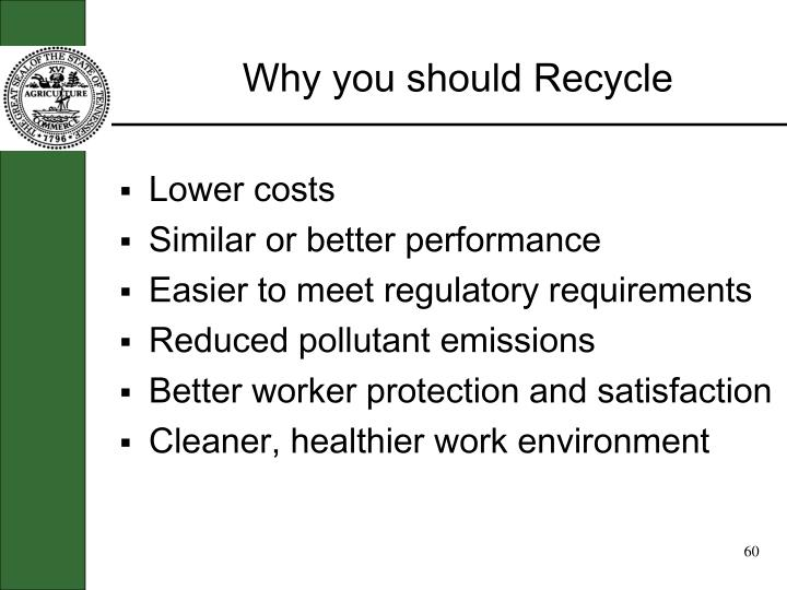 Why you should Recycle
