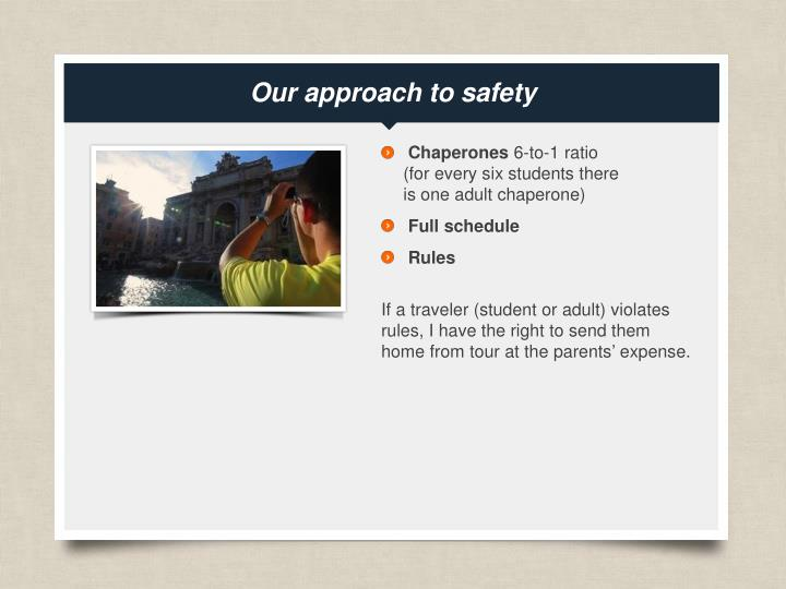 Our approach to safety