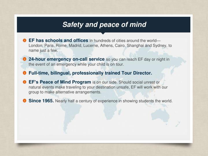 Safety a