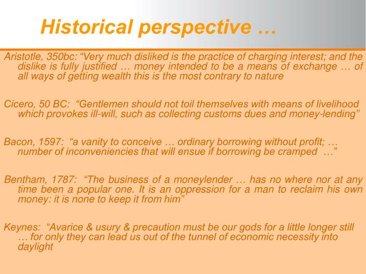 historical perspective n.