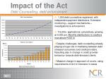 i mpact of the act debt counselling debt enforcement