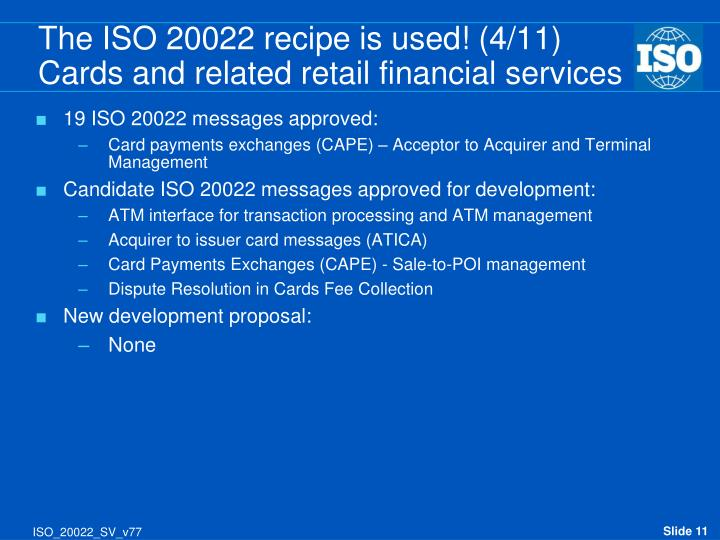 19 ISO 20022 messages