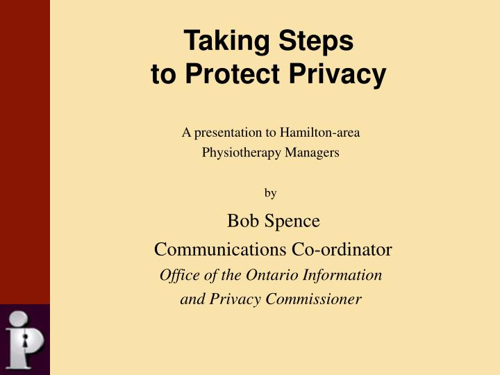 taking steps to protect privacy n.