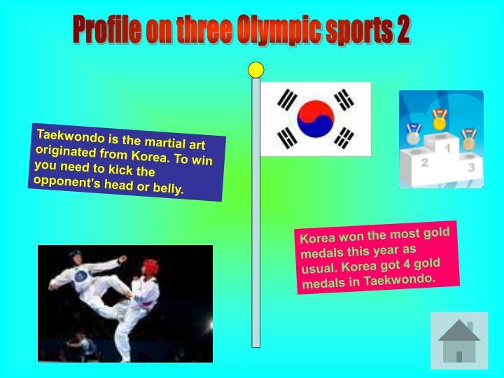 Profile on three Olympic sports 2