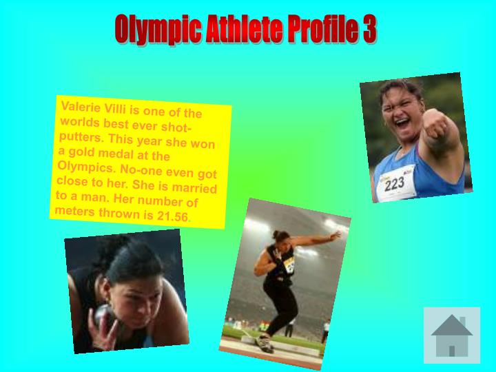 Olympic Athlete Profile 3