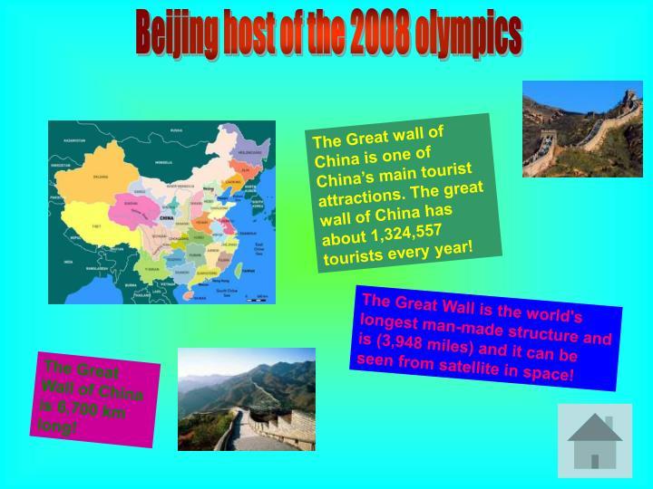 Beijing host of the 2008 olympics
