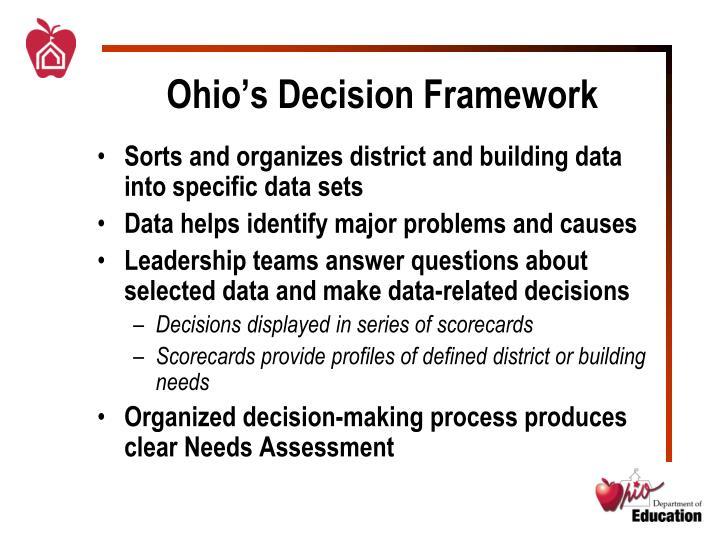 Ohio's Decision Framework